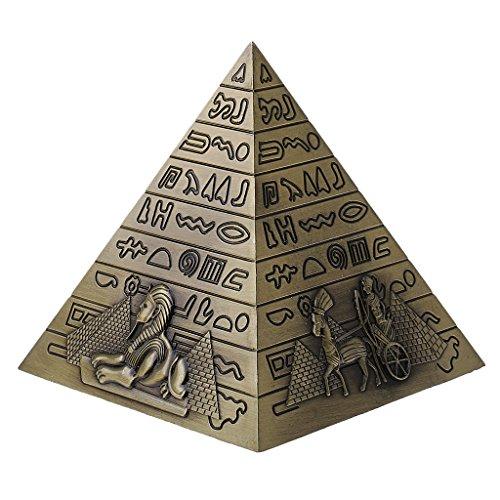 - MonkeyJack Egyptian Landmark Metal Pyramids Statue Home Decor Gift Table Shelf Ornament Bronze