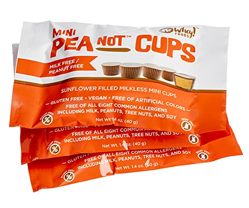 (No Whey - Mini Chocolate PeaNot Butter Cups (3 Pack) - Peanut Free, Nut Free, Dairy Free, Soy Free, Vegan, Gluten Free)