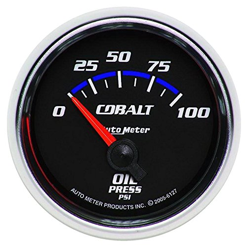 - Autometer Cobalt 52mm 100 PSI Short Sweep Electric Oil Pressure Gauge (am6127)