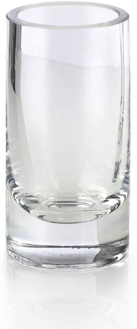 Serene Spaces Living Clear Glass Bud Vases, Set of 4, Ideal for Tablescape at Weddings, Events, Measures 4 Tall and 2 Diameter