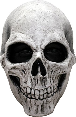 Ghoulish Productions White Skull Latex Mask ()