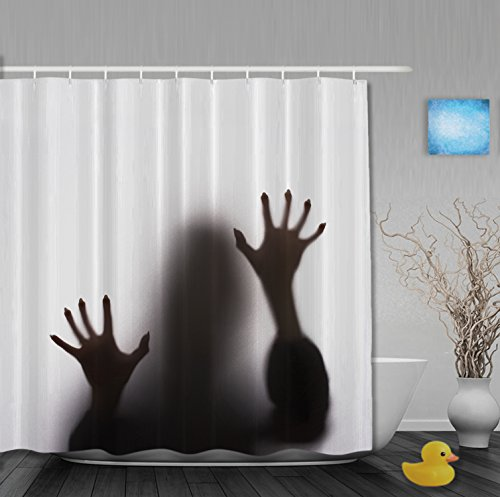[Halloween Gift Scream Terrorist Playing Tricks Bathroom Shower Curtains Waterproof Mildewproof Polyester Fabric Black] (Halloween Accessories Claires)