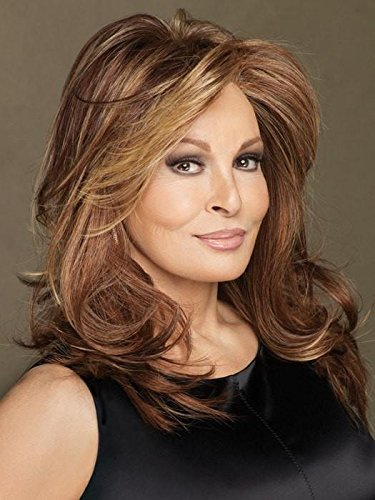Long Layered Spotlight Wig in Golden Walnut by Raquel Welch Wigs