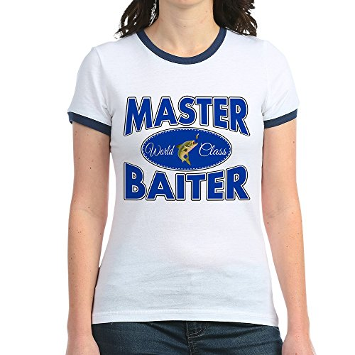Royal Lion Jr. Ringer T-Shirt Fishing Master Baiter with Lure - Navy/White, Medium