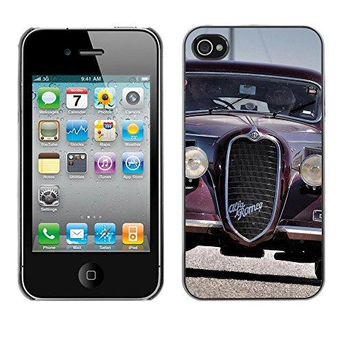 Premio Sottile Slim Cassa Custodia Case Cover Shell // F00010400 vieille voiture // Apple iPhone 4 4S 4G