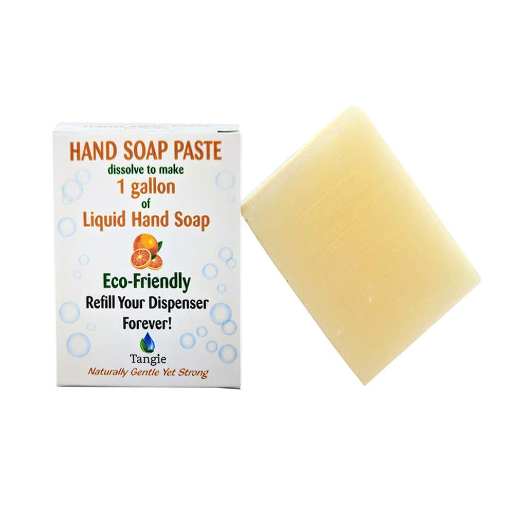 Tangie Refillable Liquid Hand Soap Bar Zero-Waste Vegan (Citrus)