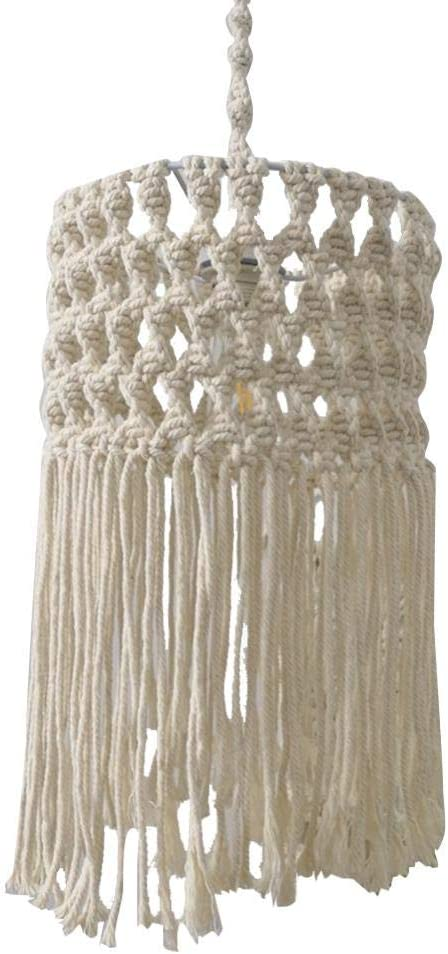 Mkono Macrame Lamp Shade Boho Light Cover for Table Lamp and Floor Light Modern Office Bedroom Living Room Nursery Dorm Bohemian Home Decor