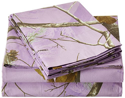Kimlor Mills Realtree APC Sheet Set, Queen, Lavender