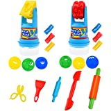 Kare & Kind Modeling Dough Play Kit - Includes: Modeling Dough, Animal Molds, Rolling Mold Storage Containers, Cutting Tools, Rolling Pins and Scissors - Perfect Birthday Gift for Boys and Girls