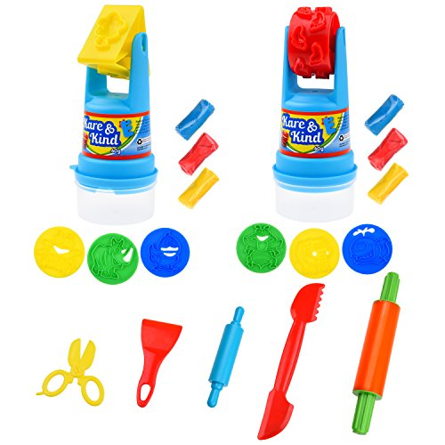 kare-kind-modeling-dough-play-kit-includes-modeling-dough-animal-molds-rolling-mold-storage-containe