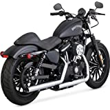 Vance and Hines Straightshots HS Chrome Slip-On Exhaust for Harley Davidson 201 - One Size