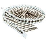 Senco ORGL74383 DuraSpin Collated Deck Screw, NO 8 x 3 in, Steel, Weatherex