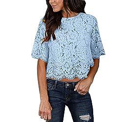 Ykaritianna 2019 New Soft Hot Fashion Women Casual Tank Top Blouse Short Sleeve O Neck Print Lace Top T Shirt