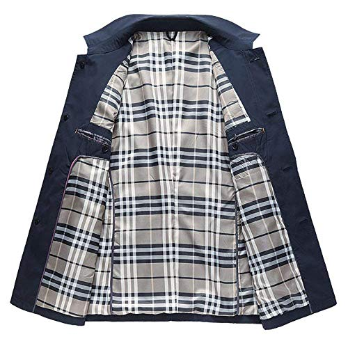 Abiti A Solido Monopetto Trench Marine Colore Lunga Comode Vento Giacca Taglie Cappotto Fashion Manica Hx Media T1qA4H