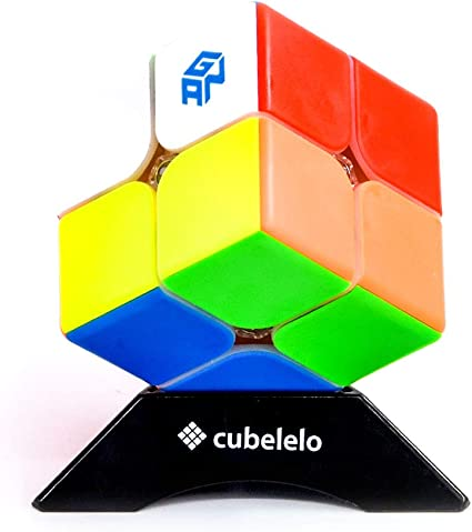 Cubelelo Gans 249 2x2 v2 M Stickerless (Magnetic) Speed Cube Puzzle Magic Cube