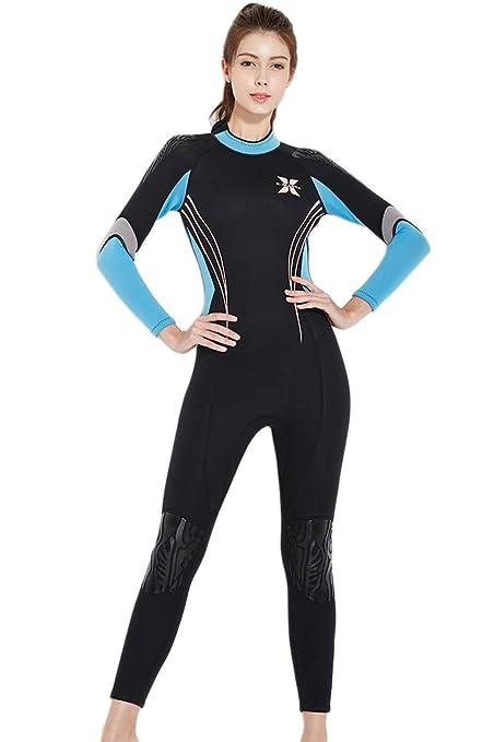 53755f5f67 Amazon.com  Micosuza Women Wetsuits 3mm Neoprene Sun Protection Full ...