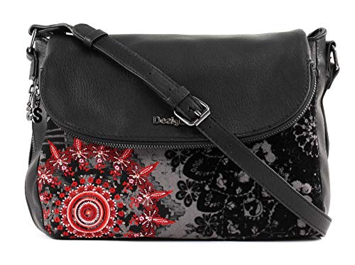 Desigual Negro Breda Maxi Red Queen Across Body Bag aqwfaFrW