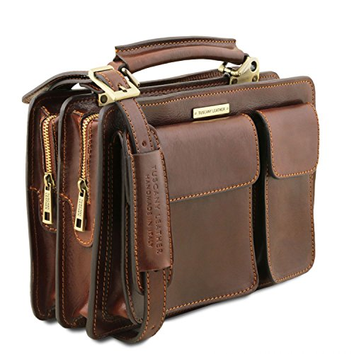 Tuscany Brown Dark Tania Leather Black Lady Handbag OHqKO6wrPx