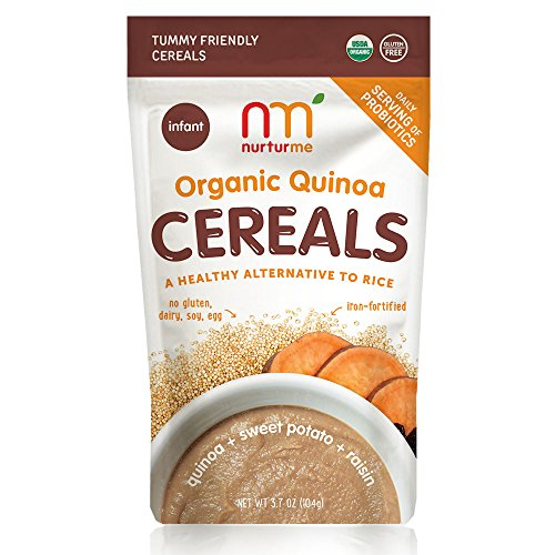 NurturMe Organic Infant Cereals, Quinoa + Sweet Potato + Raisin, 3.7 (Sweet Raisins)