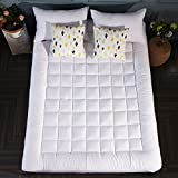 #10: SONORO KATE Mattress Pad Cover Queen Size Down Alternative Mattress Topper Fitted Quilted (8-21-Inch Deep Pocket)- Hypoallergenic -(Queen, White)