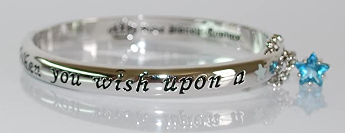 Amazon Com Disney Couture When You Wish Upon A Star Hinged Bangle