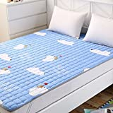 Folding cotton mat/[breathable],[double],thin mattress/full cotton mattress/anti-slip mattresses-L 120x200cm(47x79inch)