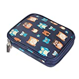 Teamoy Crochet Hook Case, Travel Storage Bag for Various Crochet Needles and Accessories, Lightweight and All in One Place, Easy to Carry, Owls(No Accessories Included)