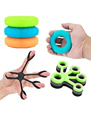 Handgreep Strengthener 6 Stks, Vinger Stretcher Kracht Trainer voor Onderarm Oefening, Handoefening Stress Relief Balls, voor Atleten en Muzikanten