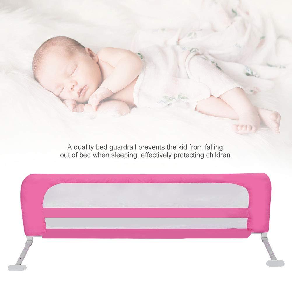barrera de protecci/ón contra ca/ídas para la cama del beb/é rosa rojo, 150 x 44 cm Barrera de protecci/ón para la cama