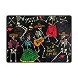 My Little Nest Area Rug Dance Skeletons Lightweight Non-Slip Soft Mat 4'10'' x 6'8'', Memory Sponge Indoor Outdoor Decor Carpet for Living Dining Room Bedroom Office Kitchen