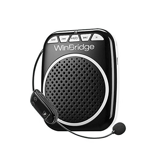 Updated WinBridge WB711 Rechargeable Voice Amplifier with UHF Wireless Microphone 10W Waistband Amplifiers for Teachers