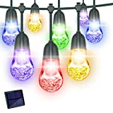 Globe String Lights, Solar Powered String Lights Outdoor LED Warm White Color Changing Fairy Lights Waterproof for Garden Patio Parties Decorations