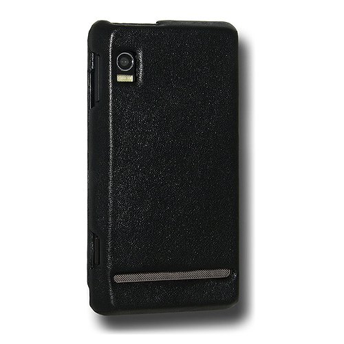 Snap A955 (Amzer Leather Snap On Cover for Motorola Droid 2 A955 - Black)