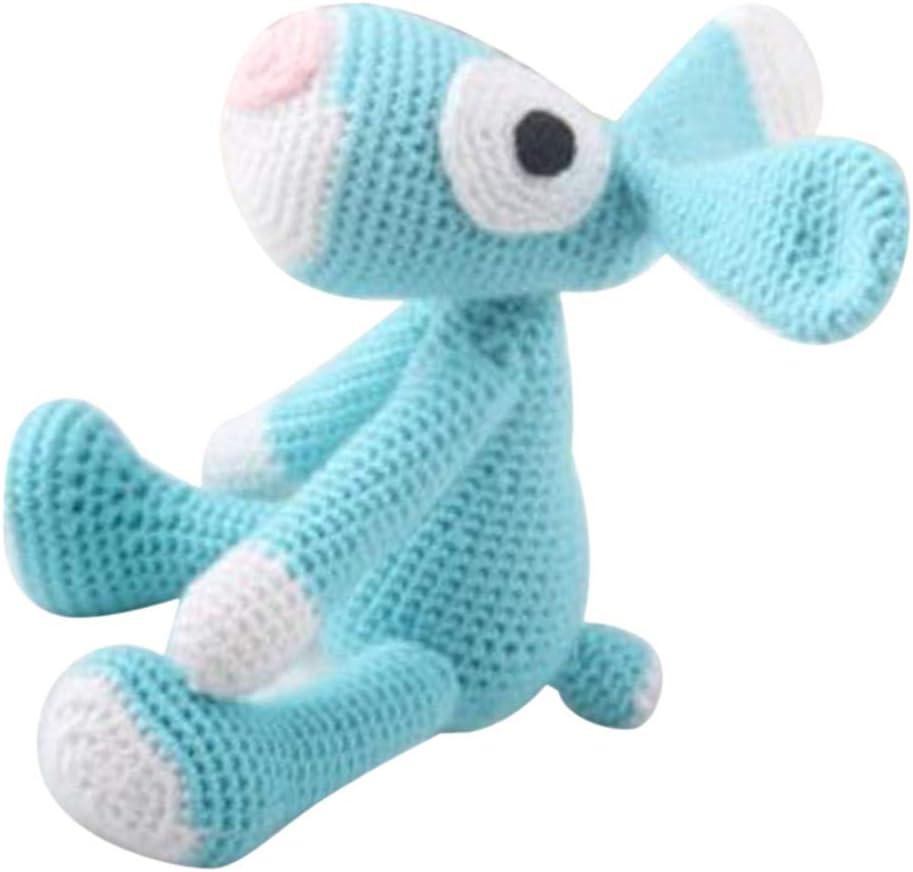P Prettyia Amigurumi Crochet Kit Peluche de Ganchillo Juguetes para Niños - Azul Perro, 18cm: Amazon.es: Hogar