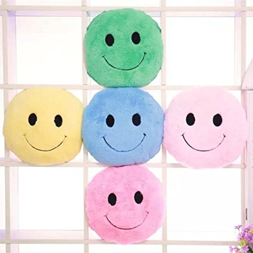 Cute Smiling Expression Plush Throw Pillow Soft Sofa Car Office Cushion Home Dec ( Pink ) by Freelance Shop Home and kitchen