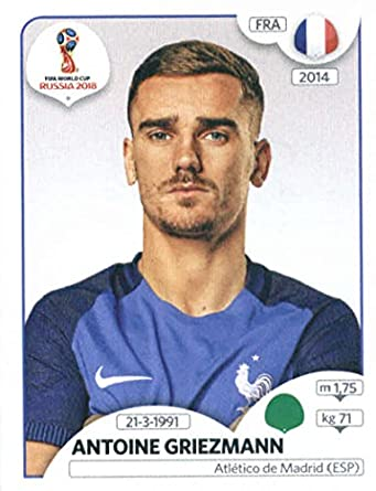 2018 panini world cup stickers russia 207 antoine griezmann france soccer sticker