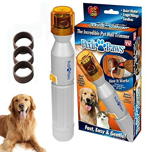 PETFF Pedipaws Dog Cat Nail Grinder, Upgraded Version Professional Electric Pet Nail Grinder Trimmer Grooming Tools by Pedi ()