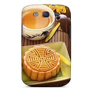 Galaxy S3 FgbbDDn4561jQmZb Pie And Tea Silicone Gel Case Cover. Fits Galaxy S3