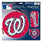 "WinCraft MLB Washington Nationals Prismatic Magnets Sheet, 11""x11"", Team Color"
