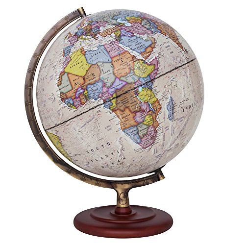 Illuminated Desk Globe - Waypoint Geographic Ambassador II Illuminated Desktop Globe, 12