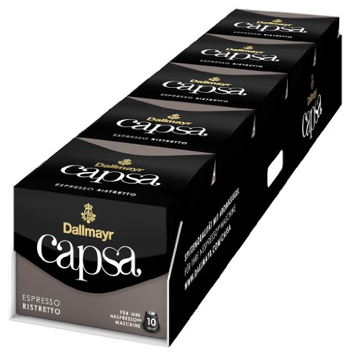 Dallmayr capsa Espresso Ristretto, 5er Pack (5 x 10 Kapseln)