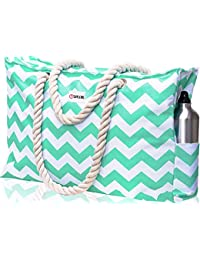 Beach Bag XXL. Waterproof. L22 xH15 xW6. Phone Case, Key Holder, Bottle Opener