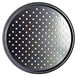 Pizza Pan Bakeware Baking Tray with Special Aerating Holes Non-Stick Versatile Kitchen Cookware(Grey)