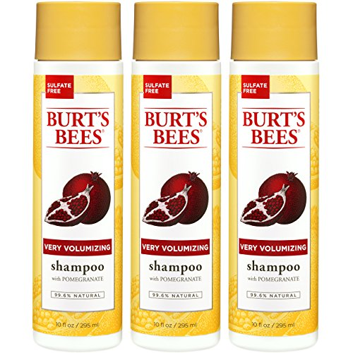 Burt's Bees Very Volumizing Shampoo Pomegranate 10 oz (Pack of 3) (Very Conditioner Volumizing)