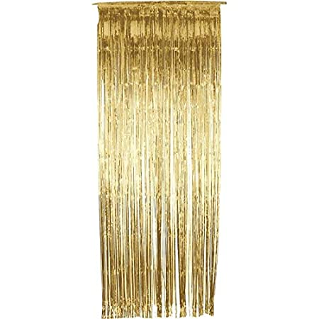 Yalulu 2 Stü Ck Vorhang Gold Silber Lametta Vorhä Nge
