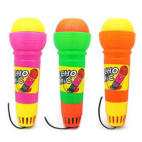 Echo Microphone, Mic Voice Changer Toy Gift Birthday Present Kids Party Song Pretend Play Toy Gift for Children Random Color-2 Pack