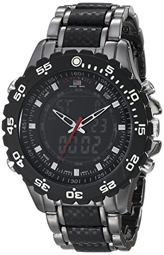 Price comparison product image U.S. Polo Assn. Sport Men's US8170 Black and Gunmetal-Tone Bracelet Watch