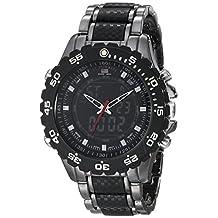 U.S. Polo Assn. Men's Analog-Digital Dial Gun Metal Bracelet Watch Black US8170