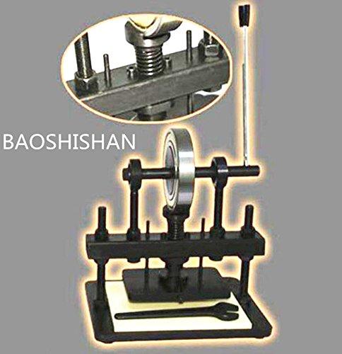 BAOSHISHAN 110V/220V ハンドクリッカー 手動式革裁断機 ロータリー式プレス機 レザークラフト スライドテーブル付き (220V) B07BNDP36T