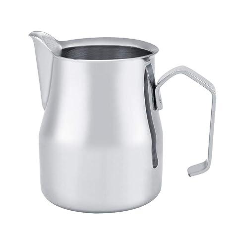 Jarra espresso al vapor, jarra de café de acero inoxidable ...